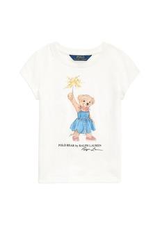 Ralph Lauren: Polo Polo Ralph Lauren Girls' Sparkler Bear Tee - Little Kid