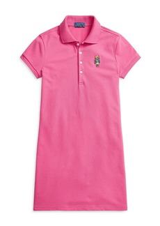 Ralph Lauren: Polo Polo Ralph Lauren Girls' Stretch Mesh Polo Dress - Big Kid