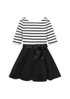 Ralph Lauren: Polo Polo Ralph Lauren Girls' Striped Bow Dress & Bloomers Set - Little Kid