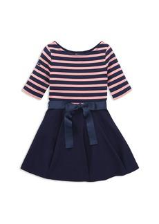 Ralph Lauren: Polo Polo Ralph Lauren Girls' Striped Bow Dress & Bloomers Set - Little Kid