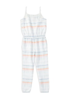 Ralph Lauren: Polo Polo Ralph Lauren Girls' Striped Jumpsuit - Big Kid