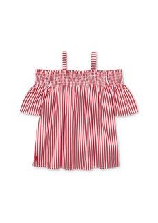 Ralph Lauren: Polo Polo Ralph Lauren Girls' Striped Off-the-Shoulder Top - Little Kid