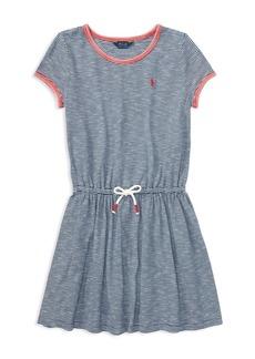 Ralph Lauren: Polo Polo Ralph Lauren Girls' Striped T-Shirt Dress - Big Kid