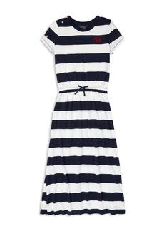 Ralph Lauren: Polo Polo Ralph Lauren Girls' Striped T-Shirt Maxi Dress - Big Kid