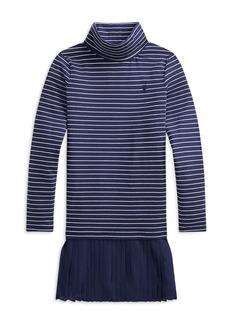 Ralph Lauren: Polo Polo Ralph Lauren Girls' Striped Turtleneck Dress - Big Kid