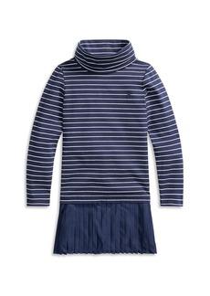 Ralph Lauren: Polo Polo Ralph Lauren Girls' Striped Turtleneck Dress - Little Kid