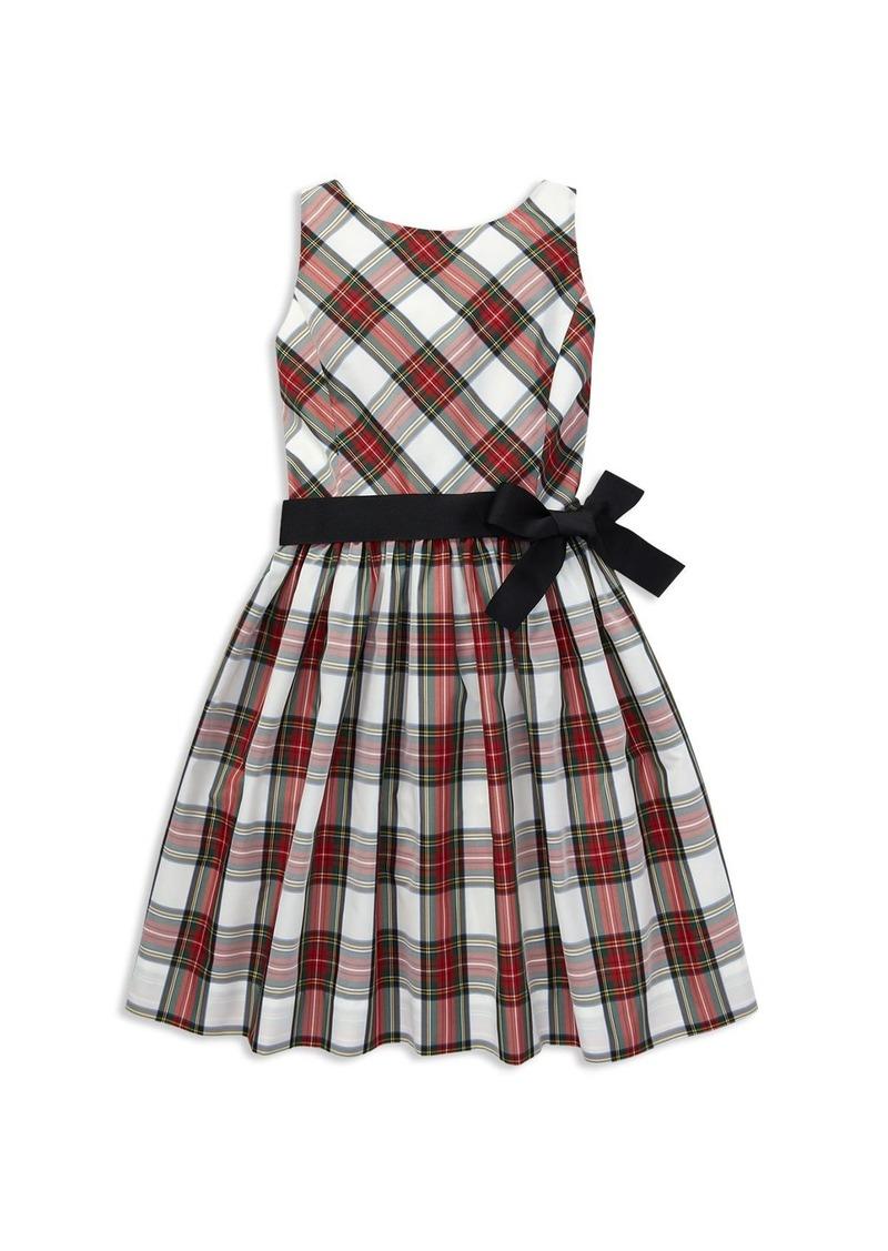 0026c2862 Ralph Lauren  Polo Polo Ralph Lauren Girls  Taffeta Plaid Dress with Sash -  Big Kid