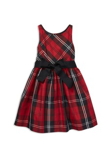 Ralph Lauren: Polo Polo Ralph Lauren Girls' Taffeta Plaid Dress with Sash - Little Kid