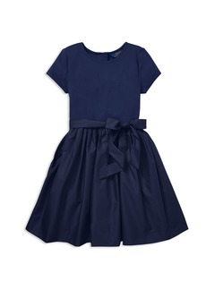 Ralph Lauren: Polo Polo Ralph Lauren Girls' Taffeta Shirt Dress with Sash - Big Kid