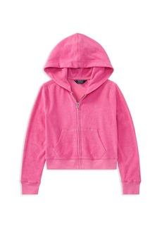 Ralph Lauren: Polo Polo Ralph Lauren Girls' Terry Zip-Up Hoodie - Big Kid