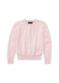 Ralph Lauren: Polo Polo Ralph Lauren Girls' Textured Pima Cotton Cardigan - Big Kid