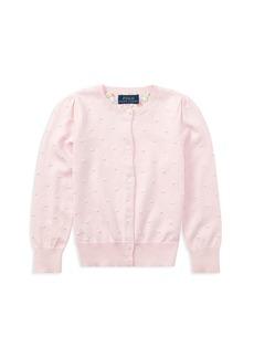 Ralph Lauren: Polo Polo Ralph Lauren Girls' Textured Pima Cotton Cardigan - Little Kid