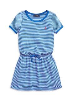 Ralph Lauren: Polo Polo Ralph Lauren Girls' Tie Front Knit Dress - Little Kid