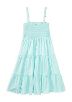 Ralph Lauren: Polo Polo Ralph Lauren Girls' Tiered Smocked Dress - Big Kid