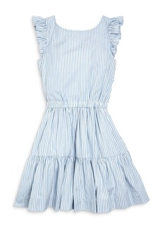 Ralph Lauren: Polo Polo Ralph Lauren Girls' Tiered Ruffle Trim Dress - Big Kid