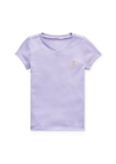 Ralph Lauren: Polo Polo Ralph Lauren Girls' V-Neck Tee - Little Kid