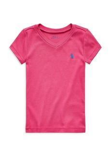 Ralph Lauren: Polo Polo Ralph Lauren Girls' V-Neck Tee - Little Kid
