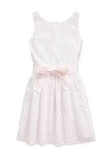 Ralph Lauren: Polo Polo Ralph Lauren Girls' Windowpane Dress - Big Kid