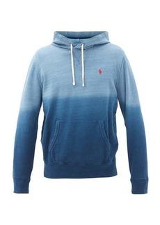 Ralph Lauren Polo Polo Ralph Lauren Gradient-dye cotton-blend hooded sweatshirt