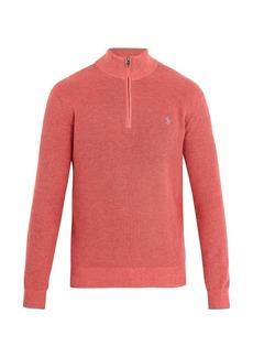 Ralph Lauren Polo Polo Ralph Lauren Half-zip logo-embroidered pima-cotton sweater