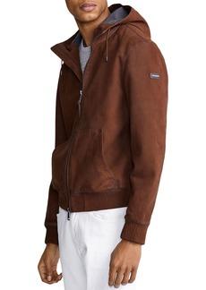 Ralph Lauren Polo Polo Ralph Lauren Henson Nubuck Leather Full-Zip Hoodie
