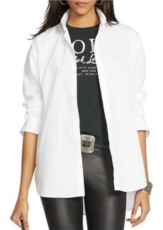 Ralph Lauren: Polo POLO RALPH LAUREN Hi-Lo Hem Poplin Shirt