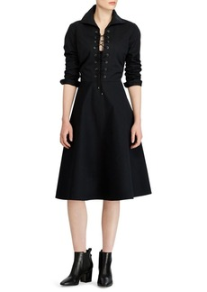 Ralph Lauren: Polo Polo Ralph Lauren Holly Lace-Up Dress