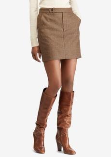Ralph Lauren: Polo Polo Ralph Lauren Houndstooth Tweed Mini Skirt