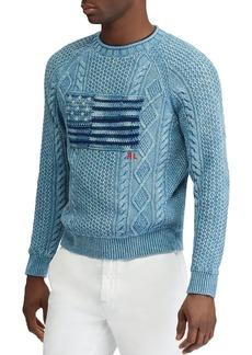 Ralph Lauren Polo Polo Ralph Lauren Indigo Flag Crewneck Sweater