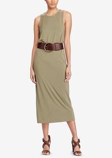 Ralph Lauren: Polo Polo Ralph Lauren Jersey Sleeveless Midi Dress