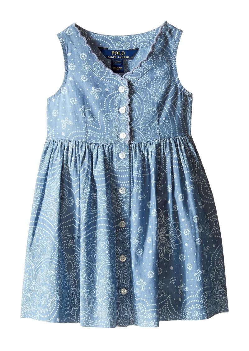 Ralph Lauren: Polo Polo Ralph Lauren Kids Chambray Woven Dress (Toddler)