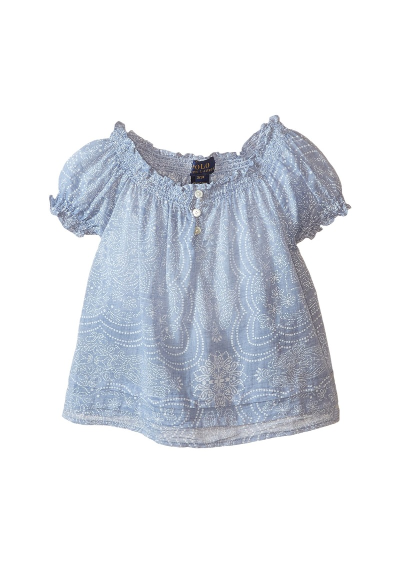 Ralph Lauren: Polo Polo Ralph Lauren Kids Gauze Boho Top (Toddler)