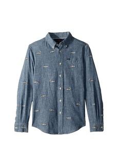 Ralph Lauren: Polo Linen-Cotton Chambray Shirt (Big Kids)