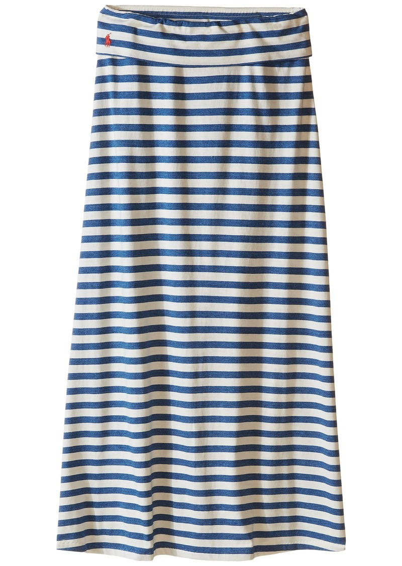 Ralph Lauren: Polo Polo Ralph Lauren Kids Modal Stripe Skirt (Little Kids/Big Kids)