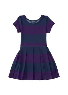 Ralph Lauren: Polo Polo Ralph Lauren Kids Ponte Stripe Dress (Toddler)