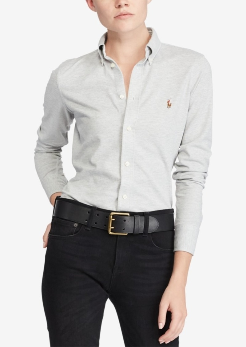 Polo Cotton Ralph Knit Oxford Lauren Shirt 29WEHDI