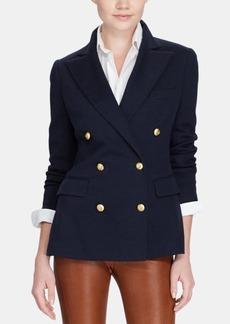 Ralph Lauren: Polo Polo Ralph Lauren Knit Double-Breasted Blazer