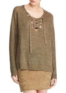 Ralph Lauren: Polo Linen Lace-Up Sweater