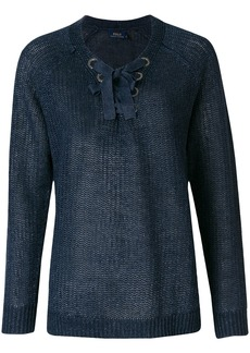 Ralph Lauren: Polo lace-up detail jumper