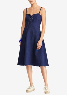 Ralph Lauren: Polo Polo Ralph Lauren Lace-Up Dress