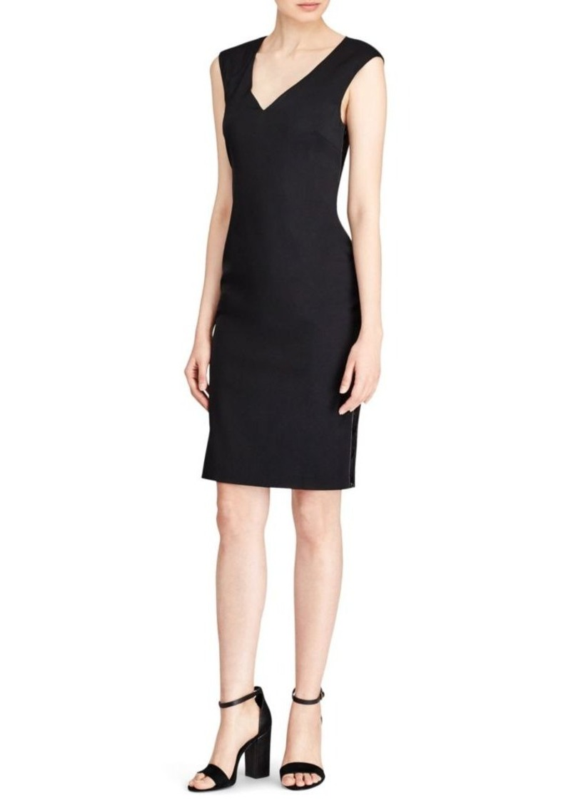 Ralph Lauren: Polo Leather Sheath Dress