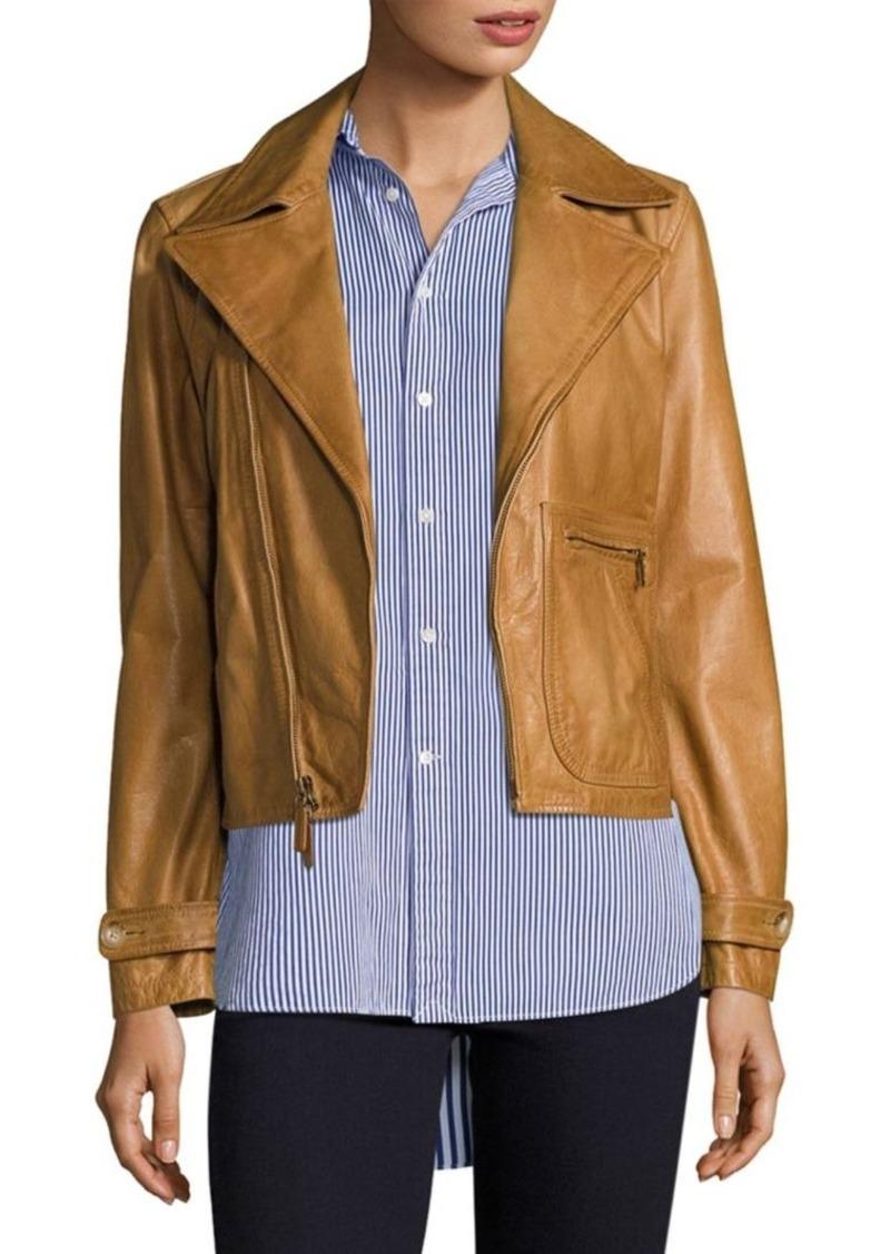 c7b063d9f0923 Ralph Lauren  Polo Polo Ralph Lauren Leather Moto Jacket