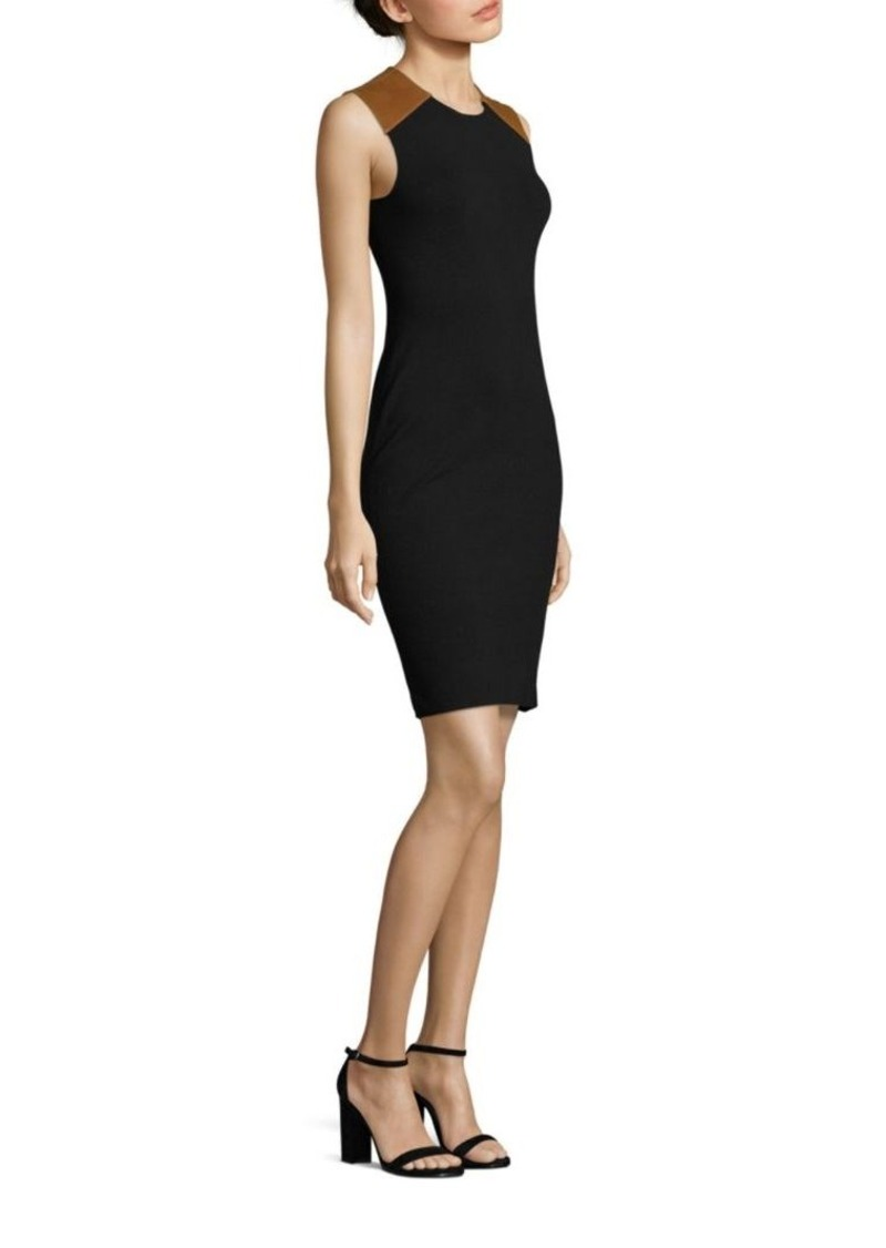 Ralph Lauren: Polo Leather-Trimmed Sheath Dress