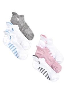Ralph Lauren: Polo Polo Ralph Lauren Little & Big Girls 6-Pack Low-Cut Socks