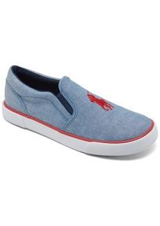 Ralph Lauren: Polo Polo Ralph Lauren Little Boys' Bal Harbor 3 Slip-On Casual Sneakers from Finish Line