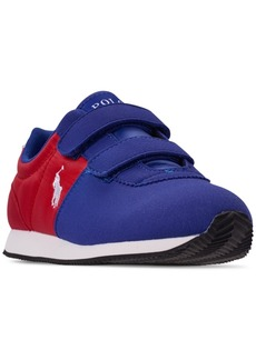 Ralph Lauren: Polo Polo Ralph Lauren Little Boys' Brightwood Ez Casual Sneakers from Finish Line