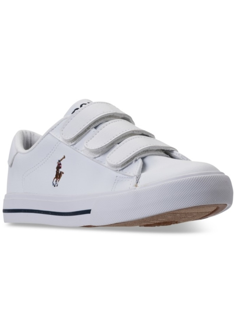 Ralph Lauren: Polo Polo Ralph Lauren Little Boys' Easten Ii Ez Casual Sneakers from Finish Line