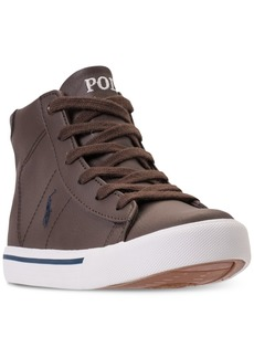Ralph Lauren: Polo Polo Ralph Lauren Little Boys' Easten Mid Casual Sneakers from Finish Line