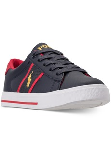 Ralph Lauren: Polo Polo Ralph Lauren Little Boys' Geoff Casual Sneakers from Finish Line