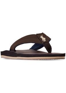 Ralph Lauren: Polo Polo Ralph Lauren Little Boys' Leo Faux Leather Flip Flop Sandals from Finish Line